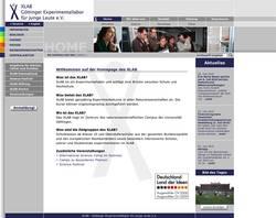 www.xlab-goettingen.de, Umsetzung mit TYPO3